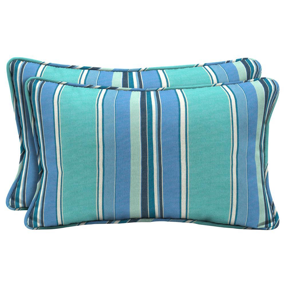 Sunbrella Dolce Oasis Lumbar Outdoor Throw Pillow (2-Pack)