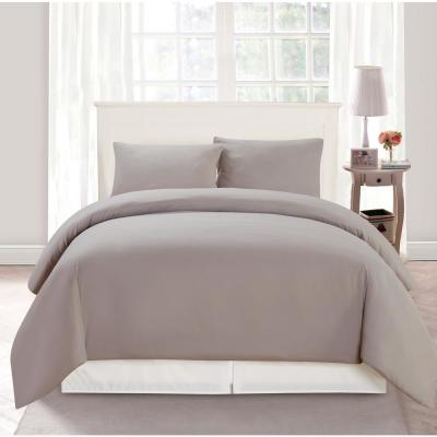 Aiden Full/Queen 3 Piece Duvet Set In Taupe