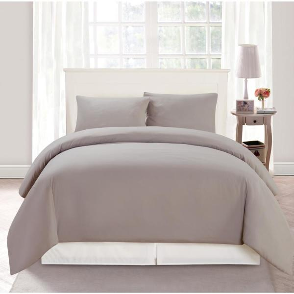 Duck River Aiden Full/Queen 3 Piece Duvet Set In Taupe AIDEN