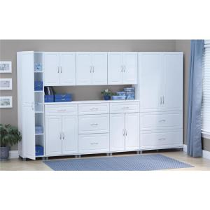SystemBuild Kendall White Storage Cabinet-7363401PCOM - The Home Depot