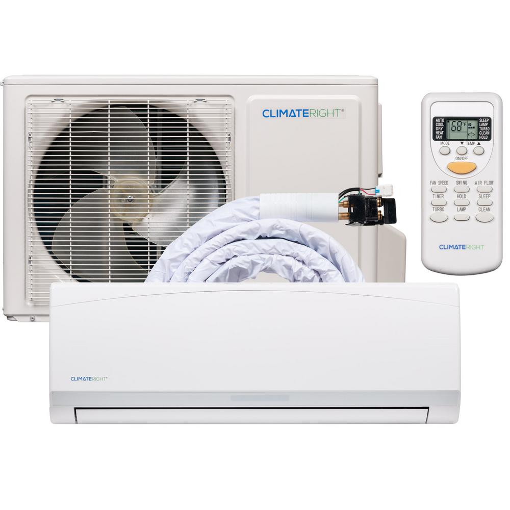ClimateRight ClimateRight CR12000SACH 12,000 BTU Ductless Mini-Split BTU  Air Conditioner & Heater