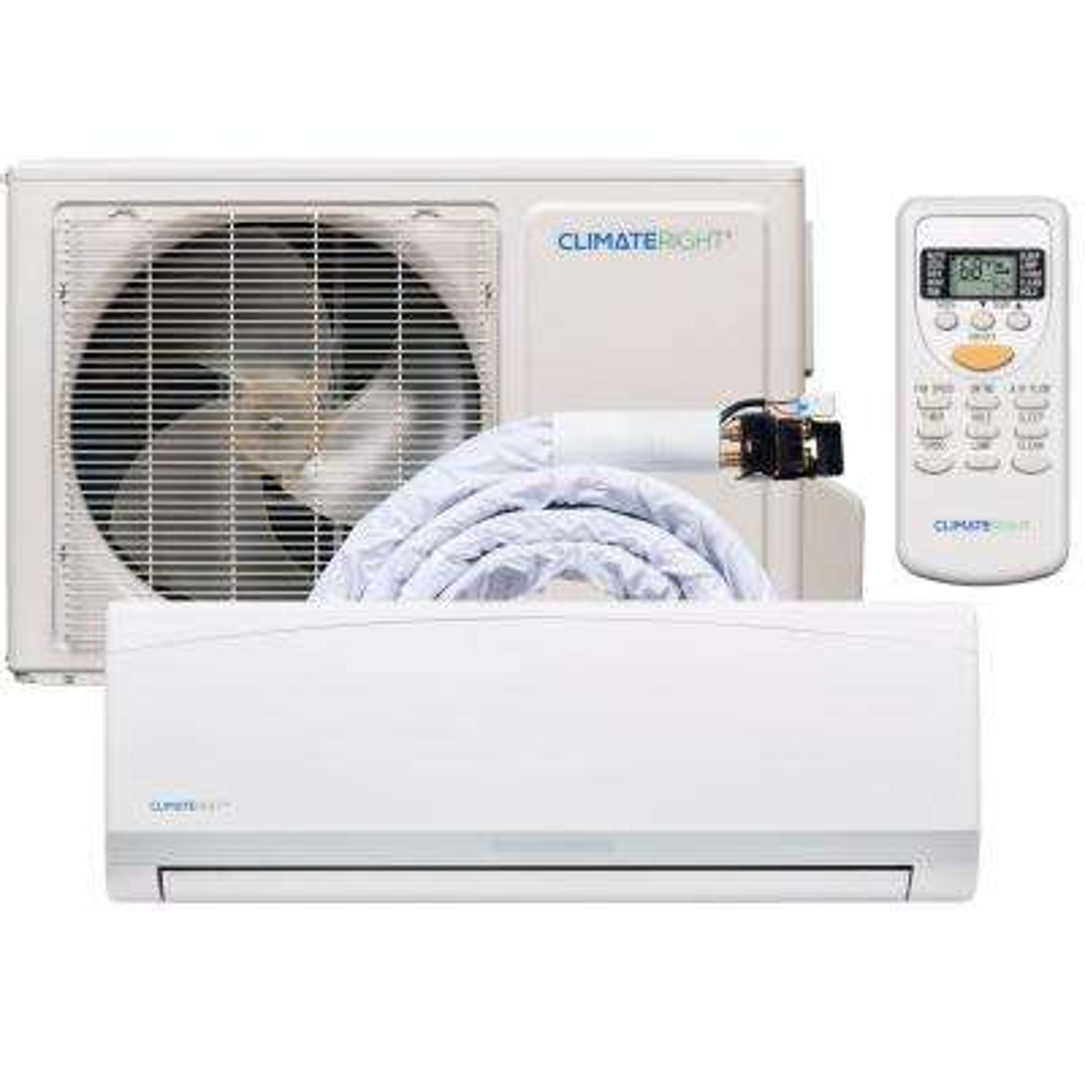 ClimateRight CR12000SACH 12,000 BTU Ductless Mini-Split BTU Air Conditioner & Heater
