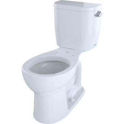 Entrada 2-Piece 1.28 GPF Single Flush Round Toilet with Right Hand Trip Lever in Cotton White