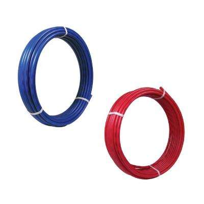 1/2 in. x 100 ft. Coil Blue and Red PEx Pipe