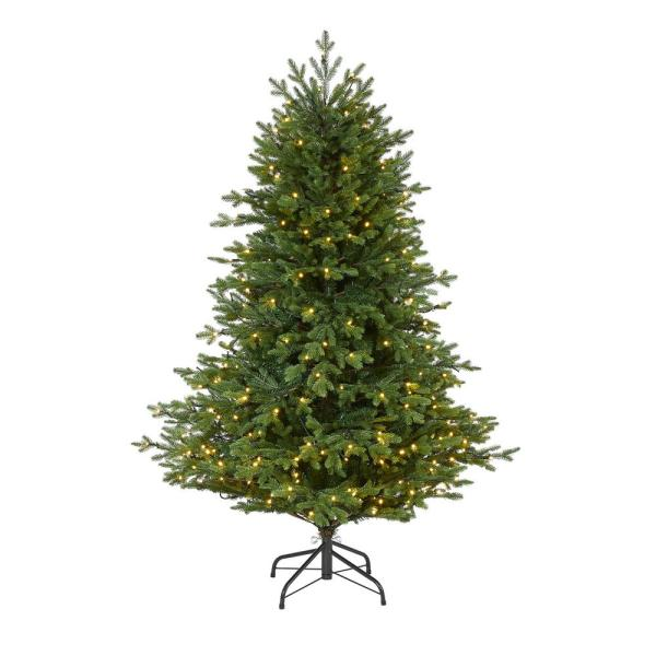 5 ft. Pre-Lit Wyoming Spruce Artificial Christmas Tree with 300 Clear LED Lights