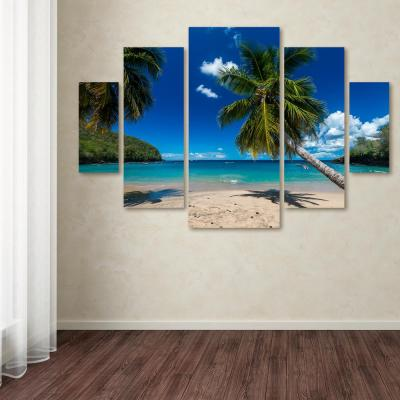 """40 in. x 58 in. """"Martinique"""" by Mathieu Rivrin Printed Canvas Wall Art"""