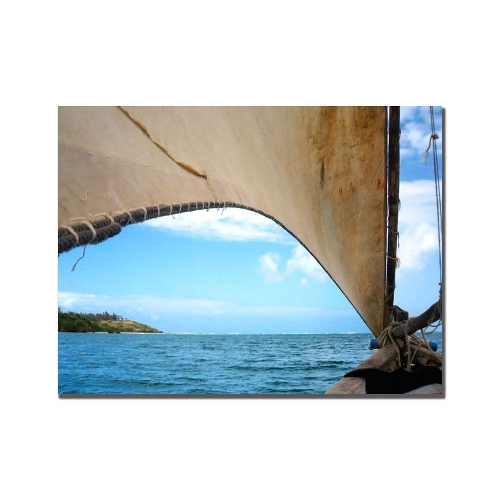 Trademark Fine Art 24 in. x 24 in. Kenya Sail Canvas Art