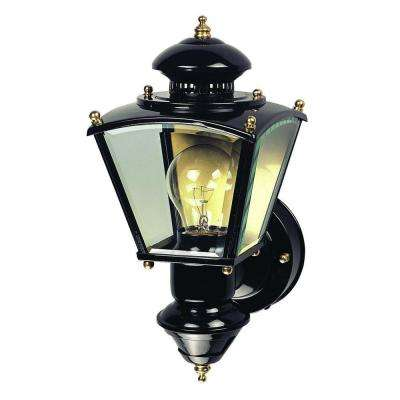 150 Degree Black Charleston Coach Lantern with Clear Glass
