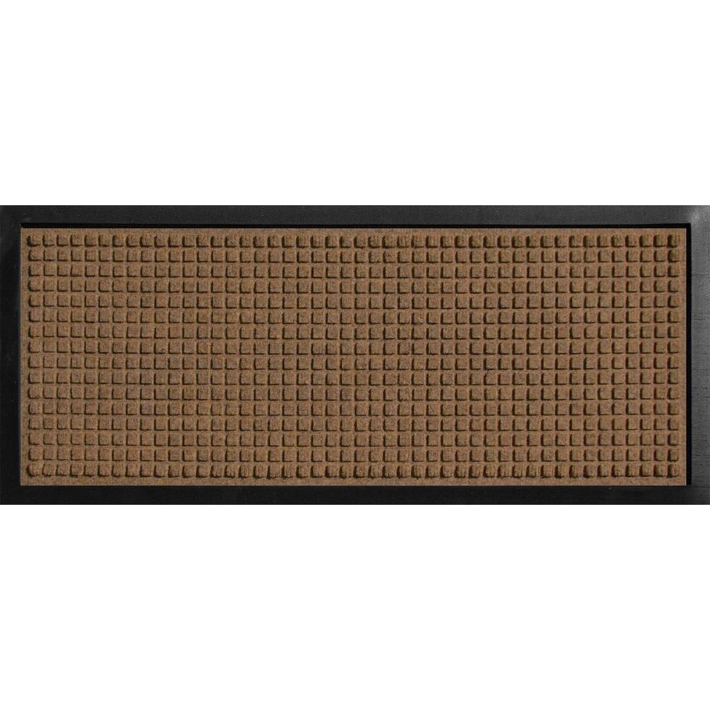 Aqua Shield Boot Tray Squares Dark Brown 15 In. X 36