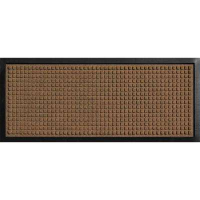 Aqua Shield Boot Tray Squares Dark Brown 15 in. x 36 in. Door Mat