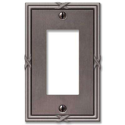 Ribbon and Reed 1 Decora Wall Plate - Antique Nickel