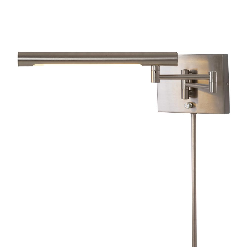 Integrated led sconces lighting the home depot 40 watt equivalence brushed nickel integrated led dual mount wall sconce amipublicfo Image collections