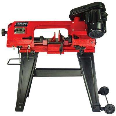 5 Amp 4.5 in. Stationary Metal Cutting Band Saw with Stand