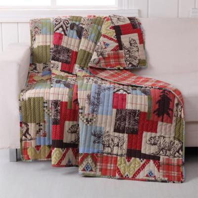 Rustic Lodge Multi Quilted Cotton Throw