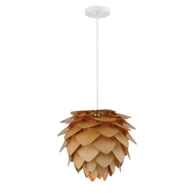 Kaliko 1-Light Kula Wood Hanging Pendant
