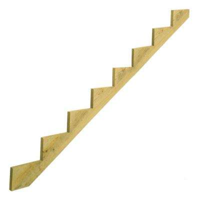 8-Step Pressure-Treated Pine Stair Stringer
