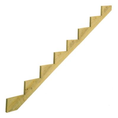 8-Step Ground Contact Pressure Treated Pine Stair Stringer