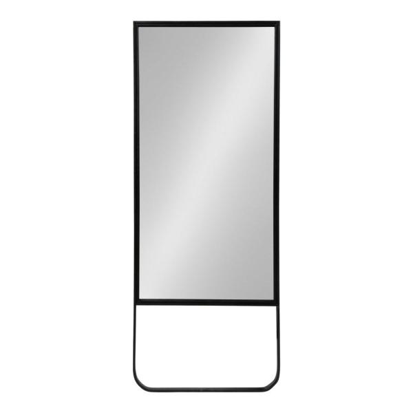 Oversized Rectangle Black Full-Length Contemporary Mirror (63 in. H x 24 in. W)