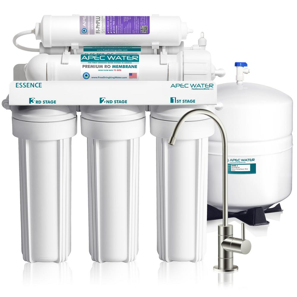 Essence Premium Quality 75 GPD pH+ Alkaline Mineral Under-Sink Reverse Osmosis