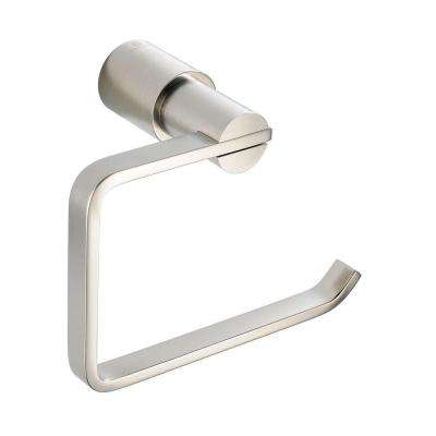 Magnifico Single Post Toilet Paper Holder in Brushed Nickel