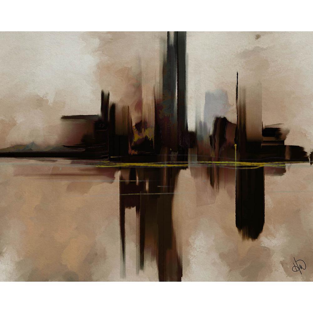20 in. x 24 in. Alone In The Dark Zeta Abstract Acrylic Wall Art Print