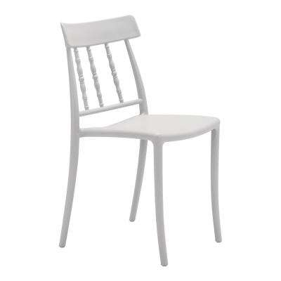 Rift Gray Plastic Outdoor Dining Chair (2-Pack)