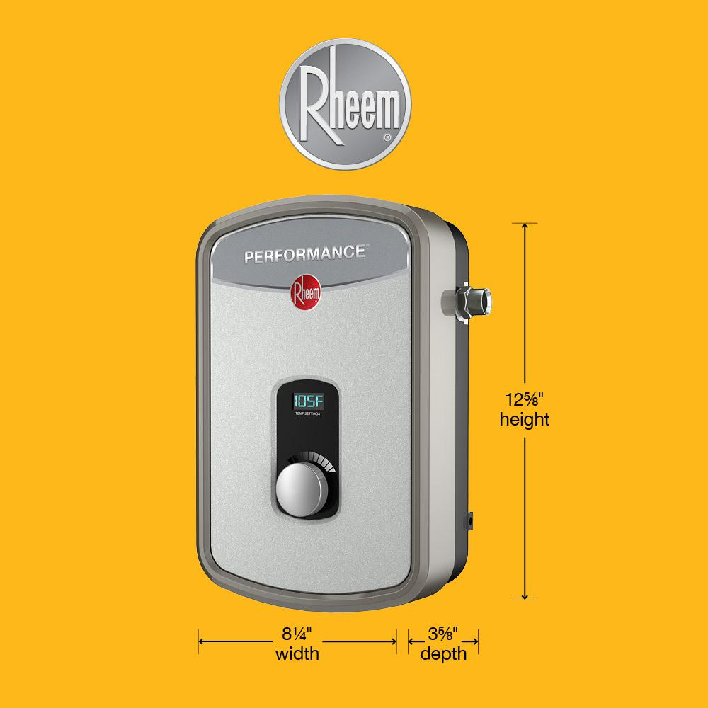 Electric Tankless Water Heater Rheem Performance 13 Kw