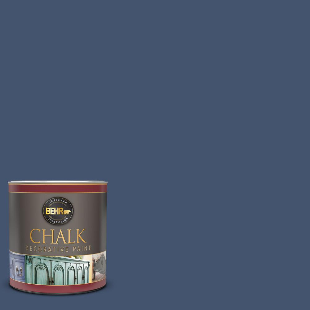 BEHR 1 qt. #BCP38 Timeless Blue Interior Chalk Decorative Paint