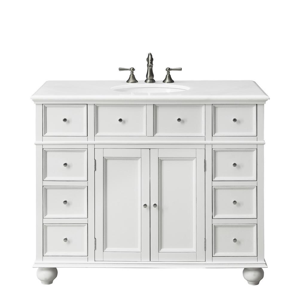 Natural Marble Vanity Top, 44 Bathroom Vanity