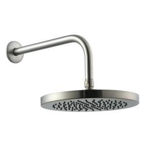 Glacier Bay 1-Spray 8 inch Round Fixed Shower Head with 12 inch Stainless Steel Arm and Flange in Brushed Nickel by Glacier Bay