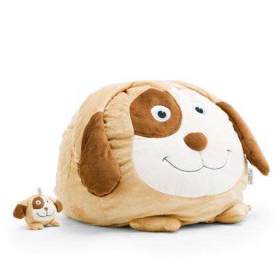 Dawson the Dog Cozy Brown Plush Bean Bag