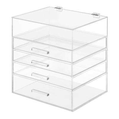 5 Tier Acrylic Cosmetic Storage Organizer in Clear