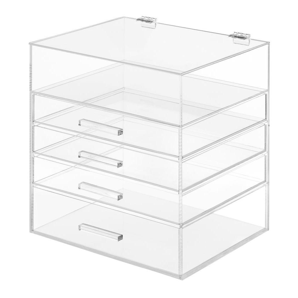 Whitmor 5 Tier Acrylic Cosmetic Storage Organizer In Clear
