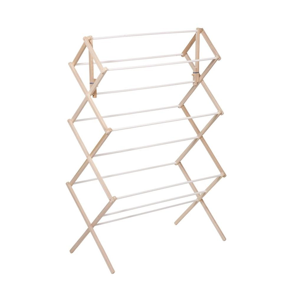 Honey-Can-Do Heavy Duty Wood Accordion Drying Rack
