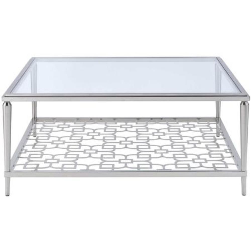 Amelia Clear Glass Coffee Table