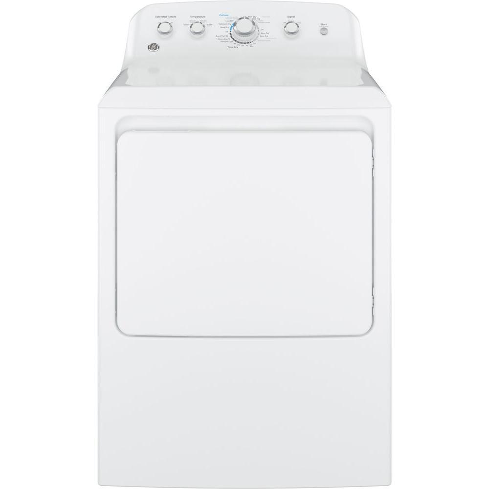GE 6.2 cu. ft. 120 Volt White Gas Vented Dryer