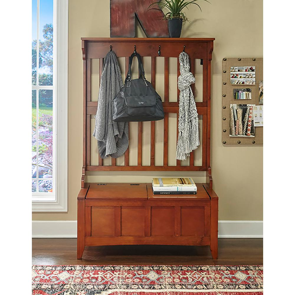 Linon Home Decor Walnut Storage Bench