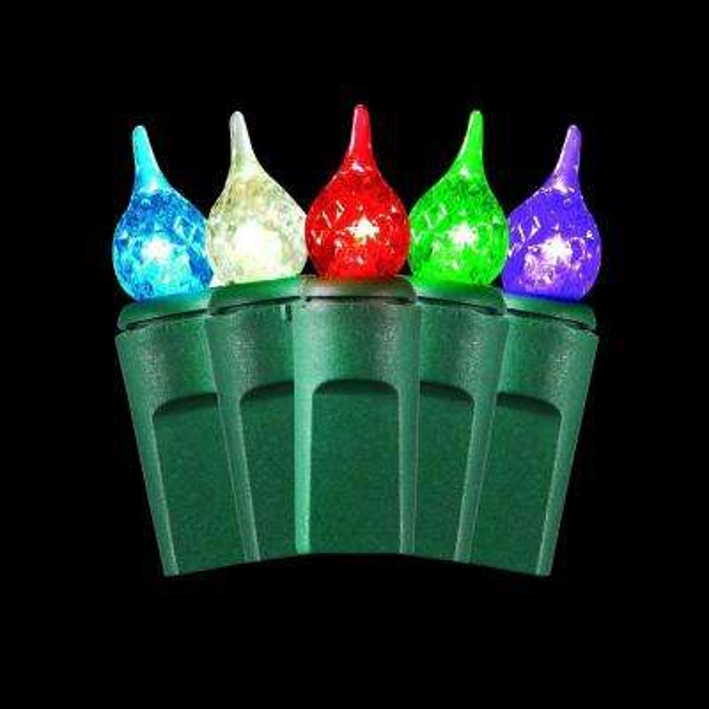 50-Light Warm Multi-Color Small Teardrop Light Set
