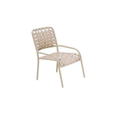 Lido Crossweave Contract Antique Bisque Nesting Gaming Patio Chair (2-Pack)
