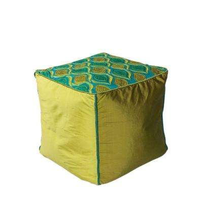 Soho Teal and Green Accent Pouf