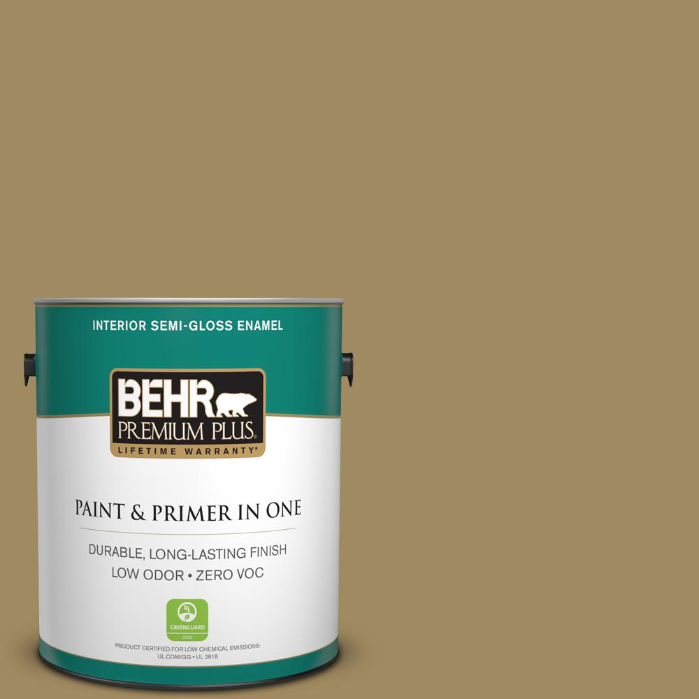 1-gal. #S320-6 Garden Salt Green Semi-Gloss Enamel Interior Paint