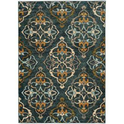 Riverside Blue 8 ft. x 11 ft. Area Rug