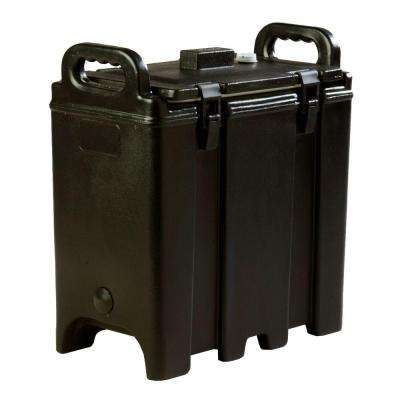 Insulated 3.5 gal. Soup and Chili Server with Nylon Latch in Black
