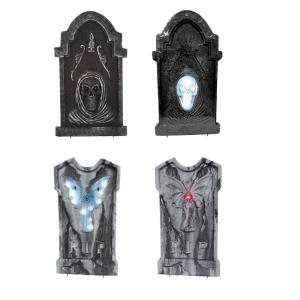 36 in. LED Tombstone Assortment (Set of 4)