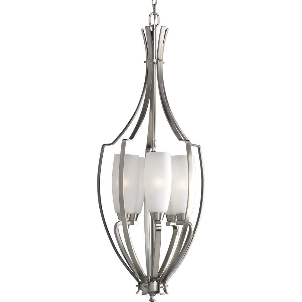 Progress Lighting Wisten Collection 5-Light Brushed Nickel Foyer Pendant