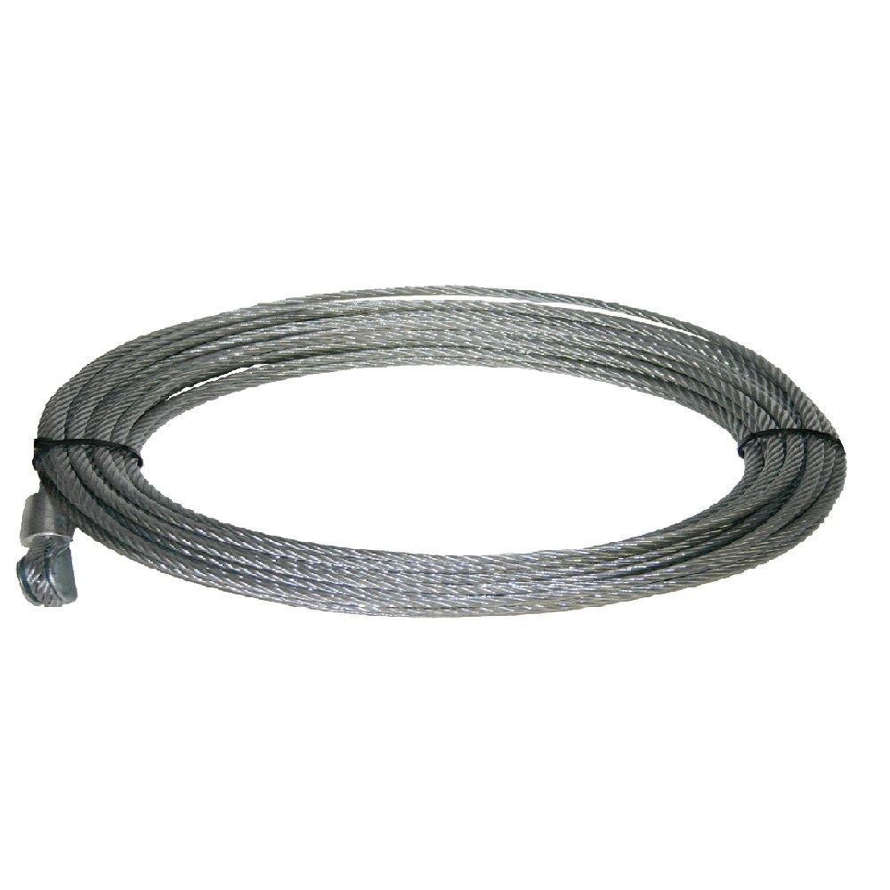Keeper 50 Ft. x 3/16 In. Wire Rope-KTA14119-1 - The Home Depot