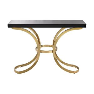 Beacon Towers Black And Gold Gl Top Console Table