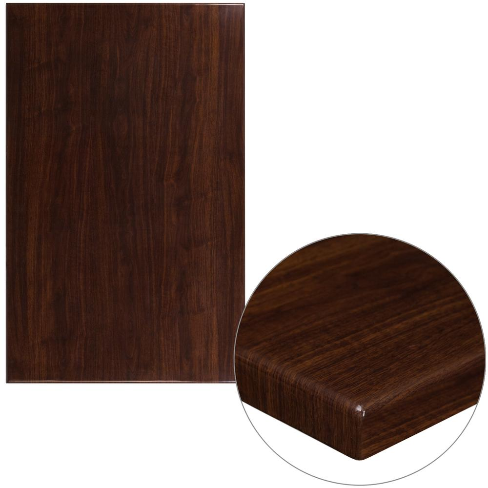 Merveilleux Flash Furniture 30 In. X 48 In. High Gloss Walnut Resin Table Top