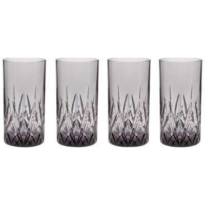 Aurora Twilight 23 oz. Highball Tumbler in Gray (Set of 4)