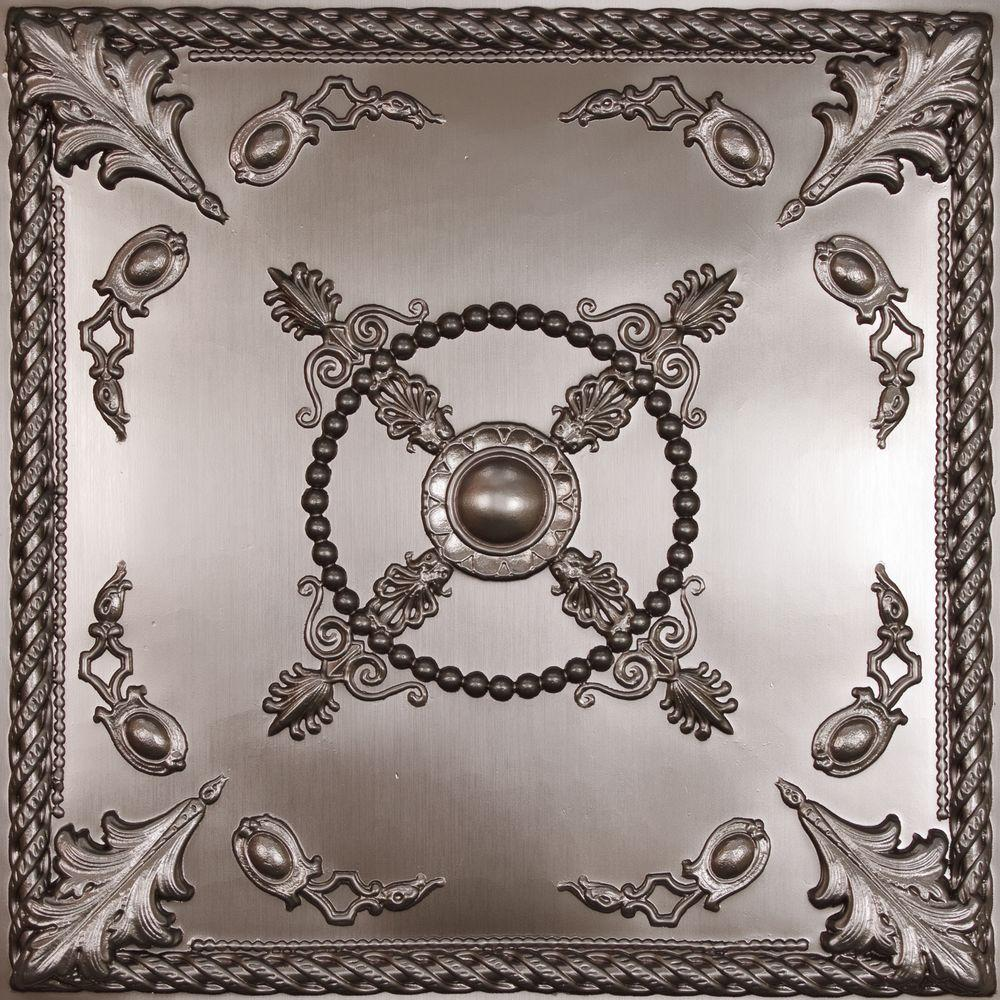 Tin style ceiling tiles ceilings the home depot alexander faux tin dailygadgetfo Images